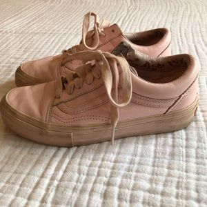 Pink Leather Opening Ceremony x Vans Sneakers